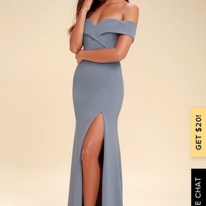 Song of love blue grey formal dress
